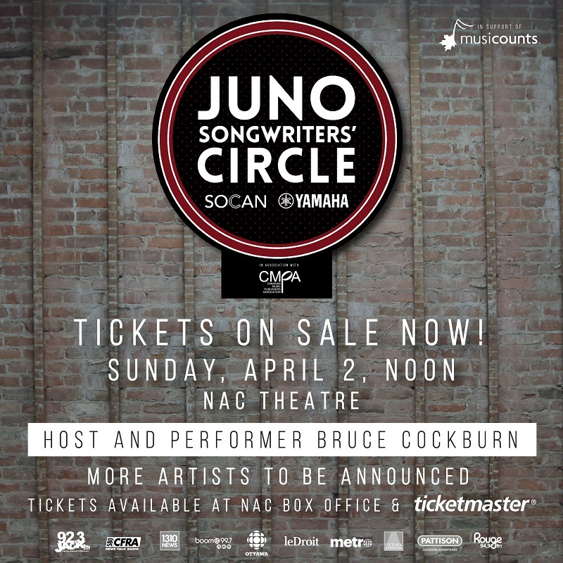 bd777df57 JUNO Songwriters  Circle is an intimate and interactive concert benefiting  ...